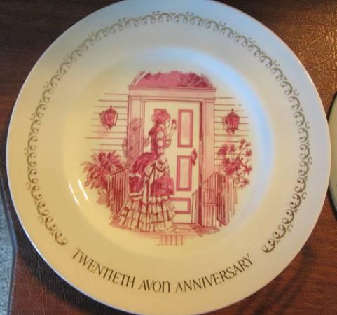 Photo Avon 20th Anniversary Plate--RED - $5 (Derby)