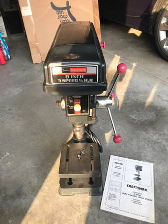Photo Craftsman 8 inch Drill Press - $100 (West Wichita)