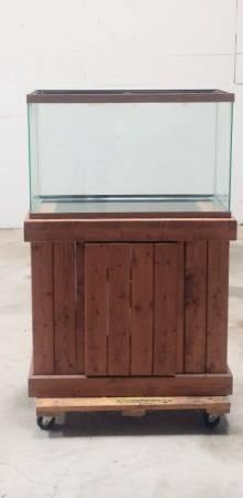 Photo Fish Aquarium  Storage Cabinet  29 gallon  No Leaks - $75 (Wichita)