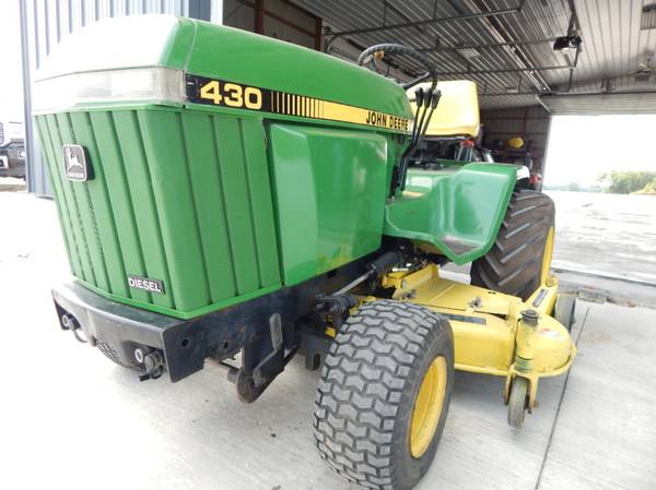 Photo John Deere 430 Lawn Mower w 60quot Deck, Diesel - $4,100 (Osage City)