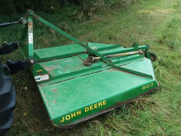 Photo John Deere 6 ft. Mower, Bushhog, Brush Rotary Cutter - Great Condition - $950 (Augusta)