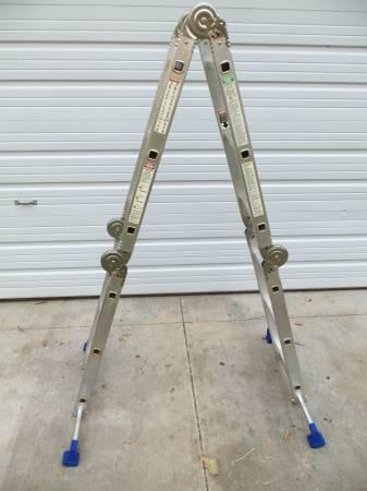 Photo Near New - Multi-Fold Ladder 12-Ft. - $80