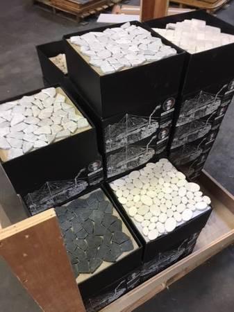 Photo Premium Valentino Corleone Marble  Pebble Stone Mosaic At Auction
