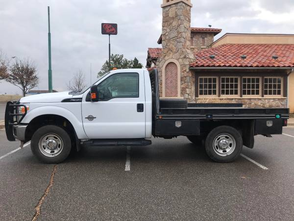Photo 2012 FORD F-350 SUPER DUTY FLAT BED 4X4 DIESEL BRUSHGUARD LOW MILES - $20988 ($396.00 A MONTH WITH ZERO CASH DOWN)