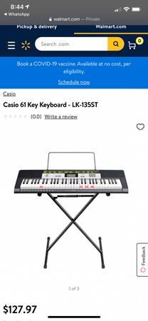 Photo Like new Casio Teaching keyboard LK-135ST - $75 (SW Fort Worth (Crowley))