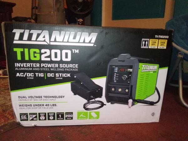 Photo TITANIUM INVERTER POWER SOURCE ALUMINUM AND STEEL WELDER - $200 (WICHITA FALLS, TEXAS)