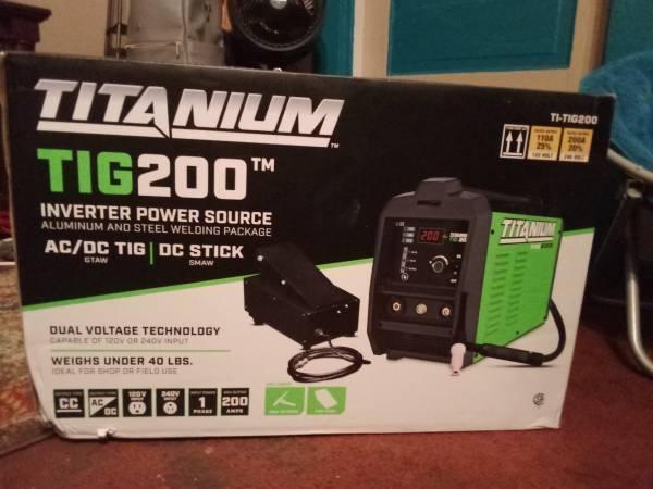 Photo TITANIUM INVERTER POWER SOURCE ALUMINUM AND STEEL WELDING PACKAGE - $350 (WICHITA FALLS, TEXAS)