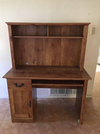 Photo Wier Computer Desk with Hutch - $89 (wichita falls)
