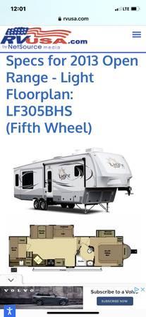 Photo 2013 Open Range fifth wheel - $18,500 (Mifflinburg)