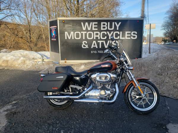 Photo 2015 Harley Davidson XL Sportster Superlow 1200T 2300k Easy Finance - $7,999 (Nesquehoning)
