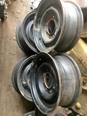 Photo 4 Chevy 8 lug Steel wheels  2457516 load E tires - $100 (Williamsport)