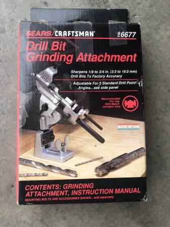 Photo Craftsman Drill Bit Grinding Attachment - $10 (Williamsport)