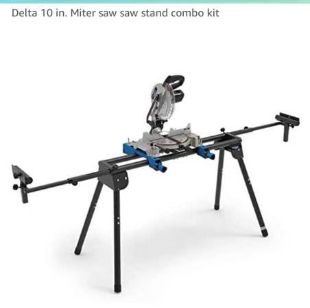 Photo Delta shop master miter saw w Stand-slighty used - $150 (Williamsport)