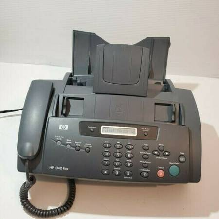 Photo HP 1040 Fax Machine Inkjet Plain Paper With Built-In Telephone Scan  - $25 (Lewisburg)