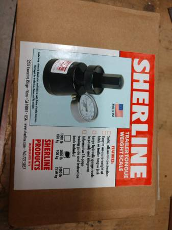 Photo Sherline Trailer Tongue Weight Scale - $135