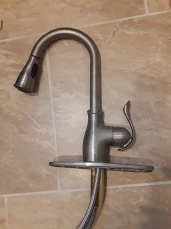 Photo Stainless Moen kitchen faucet - $20 (Danville)