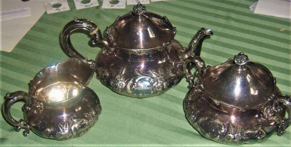 Photo Victorian Style Silver Plate Tea Set - $30 (williamsport, pa 17701)