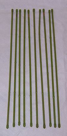 Photo 10 Steel Plant Stakes with Plastic Coating - $10 (Wilmington)