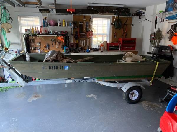 Photo 12Ft Jon Boat, Motor and Trailer - $1,300 (Leland)