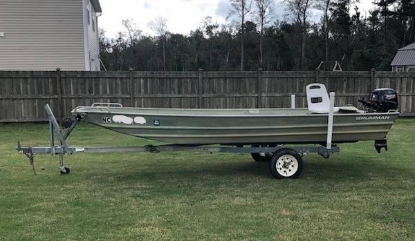 Photo 1639 Grumman Jon Boat w20HP Suzuki Motor - $4,300 (Hstead)