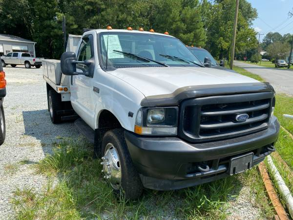 Photo 2003 Ford F450 Dually Flatbed wBoxes V10 Gas - $6,900 (Wallace)