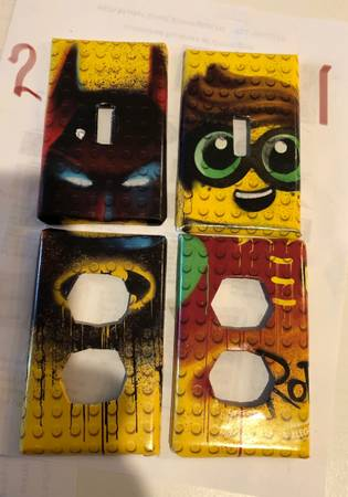 Photo Custom-made outlet covers for the playroom, babies room, living room - $5 (Wilmington)