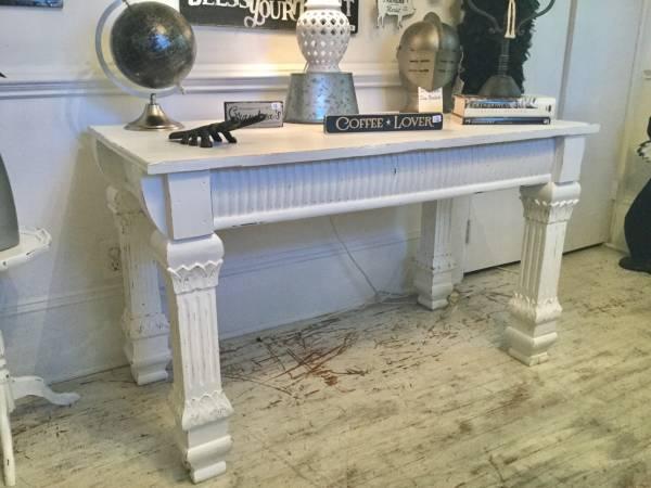 Photo Distressed White Sofa Table - $195 (Wilmington)