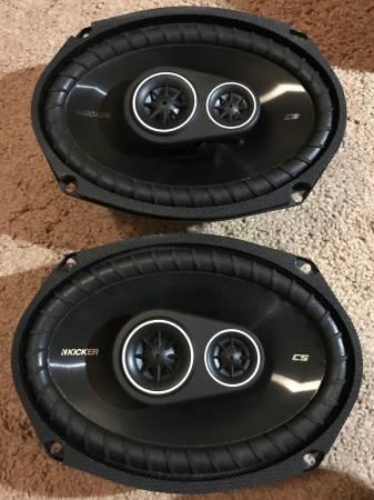 Photo Kicker CS693 3-way car speakers 6x9 - $75 (Wilmington)