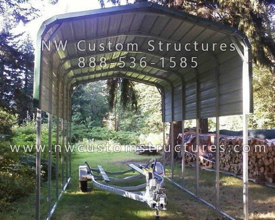 Photo Metal Boat Covers, Carports and Garages - $1,415 (and up North Carolina)