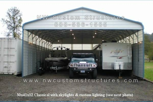 Photo Metal RV Covers, Carports, Garages, Workshops - $1,495 (and up North Carolina)