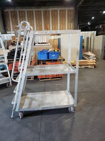 Photo Rolling Ladder Cart ( Used ) - $250 (Raleigh NC)