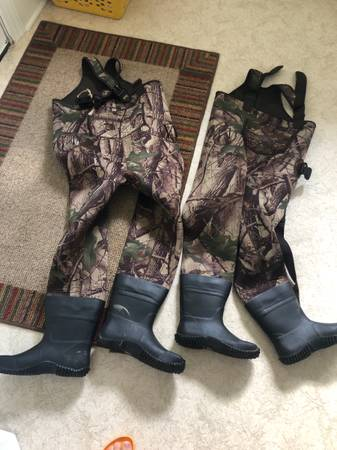 Photo Two pairs kids Lone Cone boot foot fishing waders - $60 (Wilmington)
