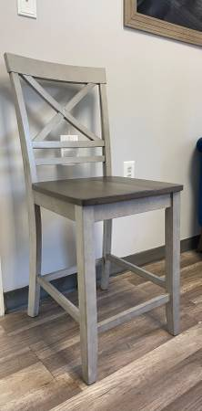 Photo Two tone Counter Height Grey Bar Stool - Brand new - $127 (Wilmington)