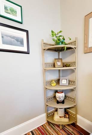 Photo Vintage Wicker Corner Shelf - $215 (Wilmington)
