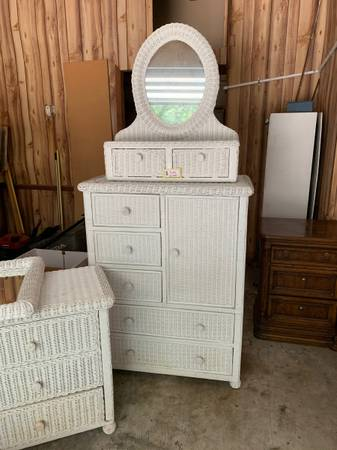 Photo Wicker bedroom tall dresser - $100 (Cavalier Dr, Wilmington)