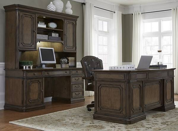 Photo 3 Piece Desk Set Demands Attention(Estate Style )Mahogany - $2,925 (Winchester,Virginia)