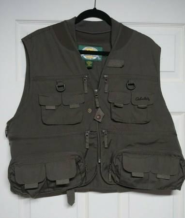 Photo Cabelas Green Mens Zip Up Fishing Vest Size L Reg 943231 - $15 (Bluemont)