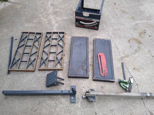Photo Craftsman table saw parts - $10 (Bluemont)