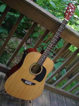 Photo Guitar Washburn Lyon II acoustic - $130 (va)