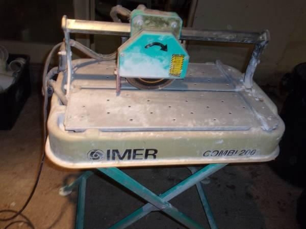 Photo IMER TILE SAW COMBI 200 - $300 (Marshall Va.)