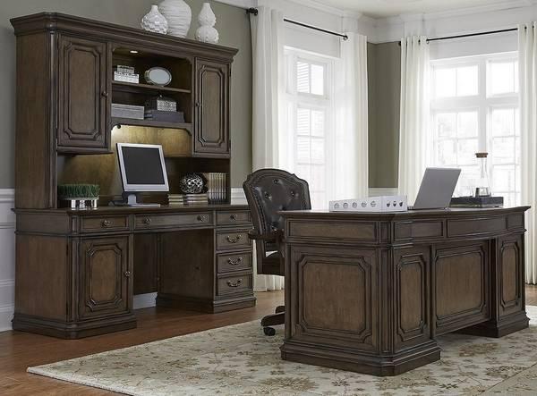 Photo Mahogany 3 Piece Desk Set Demands Attention(Estate Style ) - $2,925 (Winchester,Virginia)