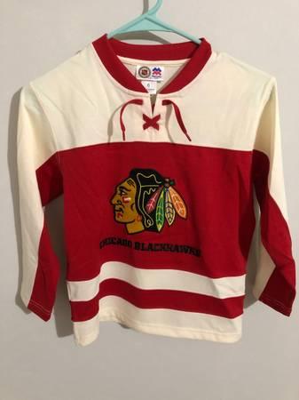 Photo NHL Chicago Blackhawks Stitched Jersey size 6 Mighty Mac Sports Kid - $36 (Sterling)
