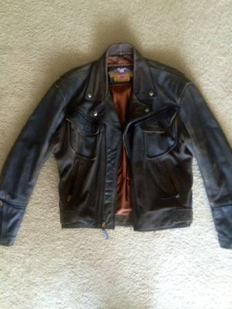 Photo Vintage Harley Motorcycle Jacket and Chaps - $325 (Colonial Beach, VA)