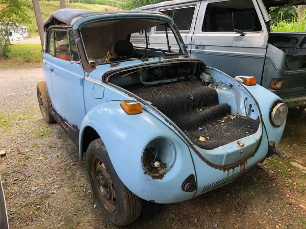 Photo 1979 Volkswagen Super Beetle Convertible Parts Car 1600cc FI VW - $300 (Boone, Nc)