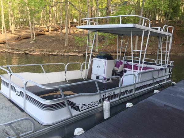 1991 24 Hardtop Playcraft Pontoon 4500 Obo 4500 Boats For Sale Winston Salem Nc Shoppok