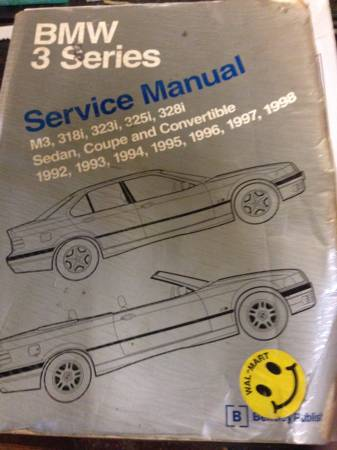 Photo BMW SERVICE MANUAL - $50 (MOUNT AIRY)