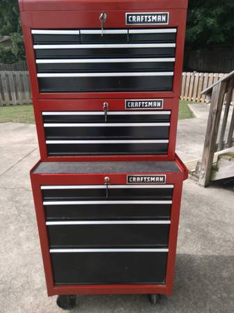 Photo Craftsman 26quot heavy duty rolling cabinet - $475 (Clemmons)