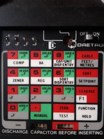 Photo Daetron Capacitor Checker Cap. Chk - $20 (Winston Salem)