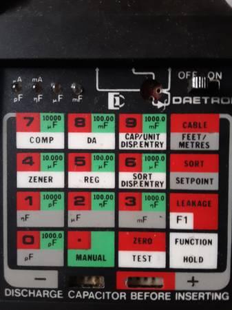 Photo Daetron Capacitor Checker Cap. Chk - $40 (Winston Salem)