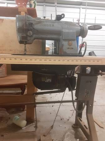Photo Industrial Singer Sewing Machines and tables - $450 (Denton)